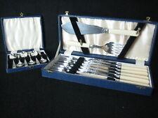 6 Place Knife Fork / Serving Set + 6 piece Hamilton & Laidlaw spoon spoon set.