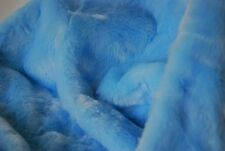 LUXURY Faux Fur Fabric Material - PALE BLUE