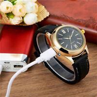 Herren Luxus Quarz Analog Armbanduhren Legierung + PVC Multifunktions Uhr