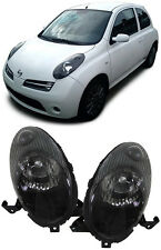 CRYSTAL SMOKED HEADLIGHTS HEADLAMPS FOR NISSAN MICRA K12 1/2003-5/2005 NICE GIFT
