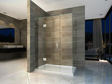 New Frameless shower screen NO base 10mm Glass 800X1200X2000 Very Popular