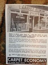 1969 Advert Carpet Economy Fosse Road Leicester
