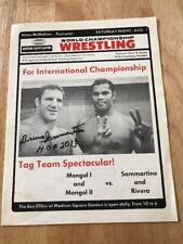 Bruno Sammartino HOF 2013 Signed Rare WWF WWWF WWE Program August 1 1970 MSG NY