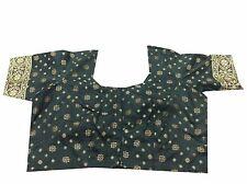 Om Vintage Indian Art Silk Thread Woven Black Blouse Choli Size-L B40