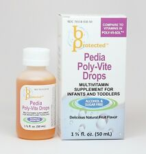 2 Pack Pedia Poly-Vite Infant Toddler Vitamin 50mL - compares to Poly Vi Sol