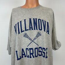 Champion Villanova Wildcats Lacrosse T Shirt NCAA College University Grey 2XL