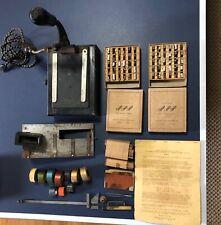 Franklin Signet Embosser Hot Stamp Machine + EXTRAS Dura Cast Rolls Foil