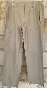 Columbia  Performance Fishing Gear Pants Zip Pocket Omni Shield Beige Size 39X32