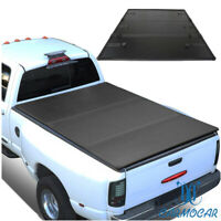 SHORT BED FRP HARD SOLID TRI-FOLD TONNEAU COVER FOR SILVERADO 14-18 SIERRA 6.5FT