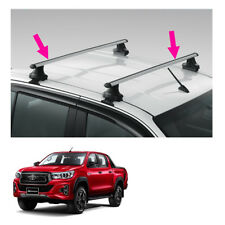 Aluminium Roof Rack 60 Kg Silver Fits Toyota Hilux Revo Rocco 4 Door 2015 2019