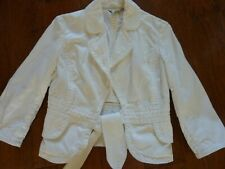 Banana Republic White Cropped Jacket-size 2-Great Condition