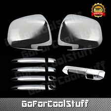 For Toyota 05-10 Tacoma Chrome 4D Door Handle + Mirror + Tailgate Cover W/ Cam