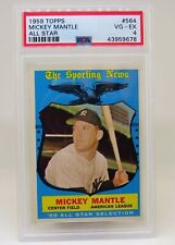 1959 TOPPS All Star - Mickey Mantle - Card # 564 - PSA 4 VG-EX