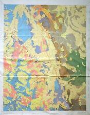 Usgs Hayden Peak Colorado Geologic Map, Huge Full Color Map Original Sleeve 1970