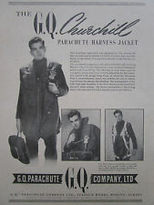 3/1947 PUB GQ CHURCHILL PARACHUTE HARNESS JACKET ORIGINAL AD
