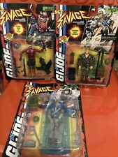 GI Joe Sgt. Savage Set/3Action Figures Lot Not Classified