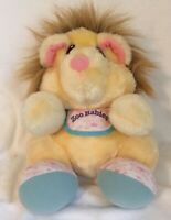 "Zoo Babies Tonka 1983 Lion Plush Stuffed Animal Vintage 10"" Bib Baby Toy Doll"