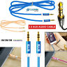 3.5mm Jack Plug Aux Cable Audio Lead For to Headphone/MP3/iPod/Car GOLD