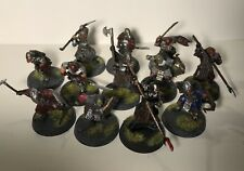 LORD OF THE RINGS - 12 Painted Plastic MORDOR ORCS - Games Workshop LOTR