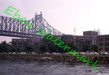 Queensboro Bridge Roosevelt Island Old Cars New York City 1964 Kodak 35mm Slide
