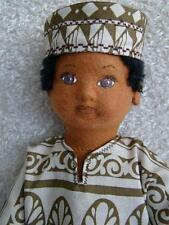 Molded Felt Doll Kit To Make Black Toddler Boy or Girl 17 in.