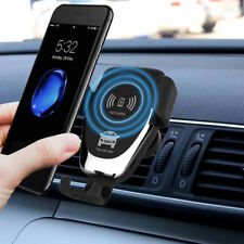 Original QI Wireless Fast Charger for iPhone Samsung Car Mount Holder Stand CS
