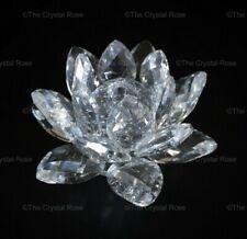 RARE Retired Swarovski Crystal 124 Candleholder Small Waterlily 011687 Mint Box