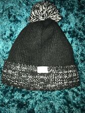 Trespass Pompom Hat Black Age 8-10 Years Great Condition