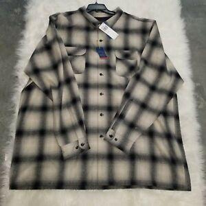 Pendleton Original Board Shirt 100% Virgin Wool Classic Fit 5XL Tall XXXXXL TALL