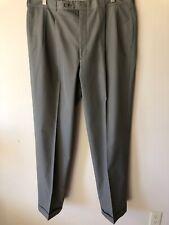 Corbin Cotton Blend Pleated Green Trousers Men's Classic Pants Sz 38