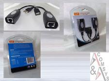 20m 30m 40m 50m bis 60m USB-Kabel Verlängerung Patchkabel Extender RJ45 USB