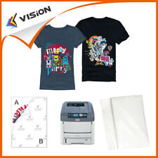 25x T-Shirt Transfer Paper A4 for Light Fabrics - Laser Printer (heatpress only)