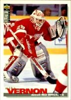1995-96 Collector's Choice Mike Vernon Red Wings Hockey Card #100! NM-M - Goalie