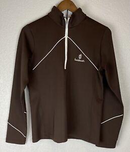 EP PRO Tour Tech Long Sleeve Golf Shirt Brown Innisbrook Logo Ladies Size M
