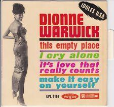 EP 45 TOURS DIONNE WARWICK THIS EMPTY PLACE VOGUE EPL 8169 + LANGUETTE centreur