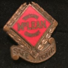 """Vtg '70's McLean Trucking Co Screw Back Pin Safe Driver 3/4"""" Bronzed Metal Yr16"""