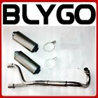 Twin Bigbore Exhaust Pipe  Mufflers 125cc 150cc 160cc PIT PRO TRAIL DIRT BIKE