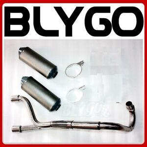 Twin Bigbore Exhaust Pipe  Mufflers 125cc 150cc 160cc PIT PRO TRAIL DIRT BIKE