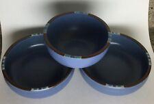 Lot of 3 Dansk Mesa Sky Blue Soup/Cereal Bowls Japan