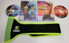 Zumba Fitness Teil 1 & 2 Nintendo Wii mit Gürtel