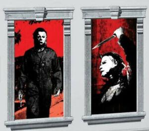 HALLOWEEN 2 Michael Myers Scene Setter Halloween party wall or window Silhouette