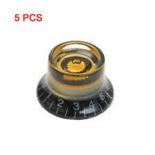 5Pcs Guitar Speed Dial Knobs Custom LP Black&Gold Control Knobs For Les Paul SG