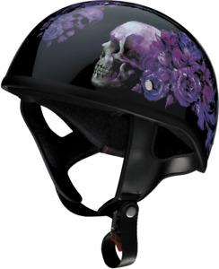 Z1R CC Beanie 1/2 Helmet PURPLE NIGHTSHADE