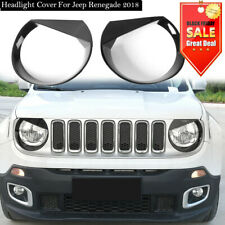 Front Light Headlight Lamp Angry Eyes Trim Cover For 2016-2018 Jeep Renegade Fl (Fits: Jeep)