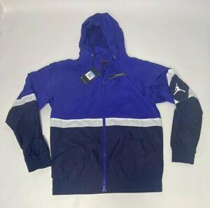 Jordan JSW Germaine Blue Diamond Full Zip Hooded Track Jacket Men Sz Med NWT
