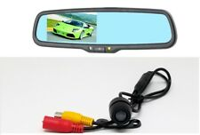 "Rear view mirror w/ 4.3"" LCD monitor & Wide angle Waterproof Backup Camera Combo"