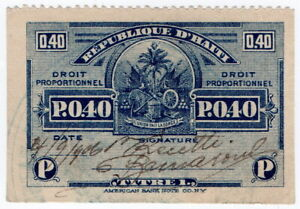 (I.B) Haiti Revenue : Droit Proportionnel 0.40p