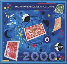 2000 FRANCE BLOC CNEP N°32** PARIS 1900/2000, Timbre sur Timbre LUXE, Sheet MNH