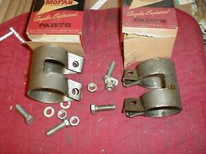 NOS MOPAR 1936-54 2 INCH EXHAUST CLAMPS MOST 6 & 8 CYLINDERS