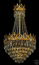 ROYAL CHANDELIER WITH REAL CRYSTALS (6 lights). Available in gold or silver.